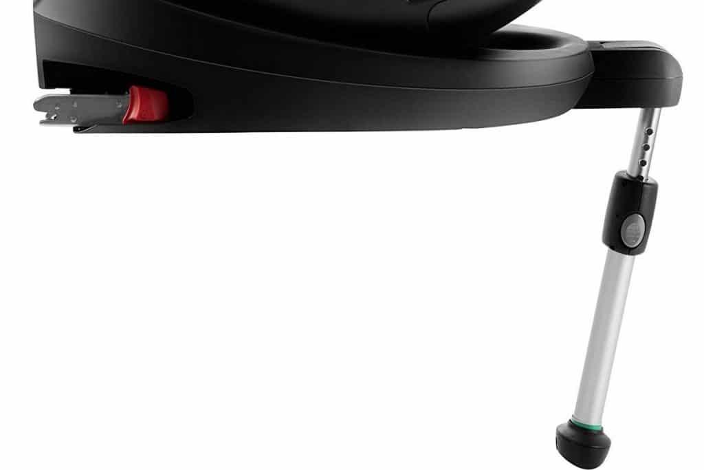 Las sillas de coche pueden tener todo tipo de sistemas de seguridad, incluida la pata de apoyo