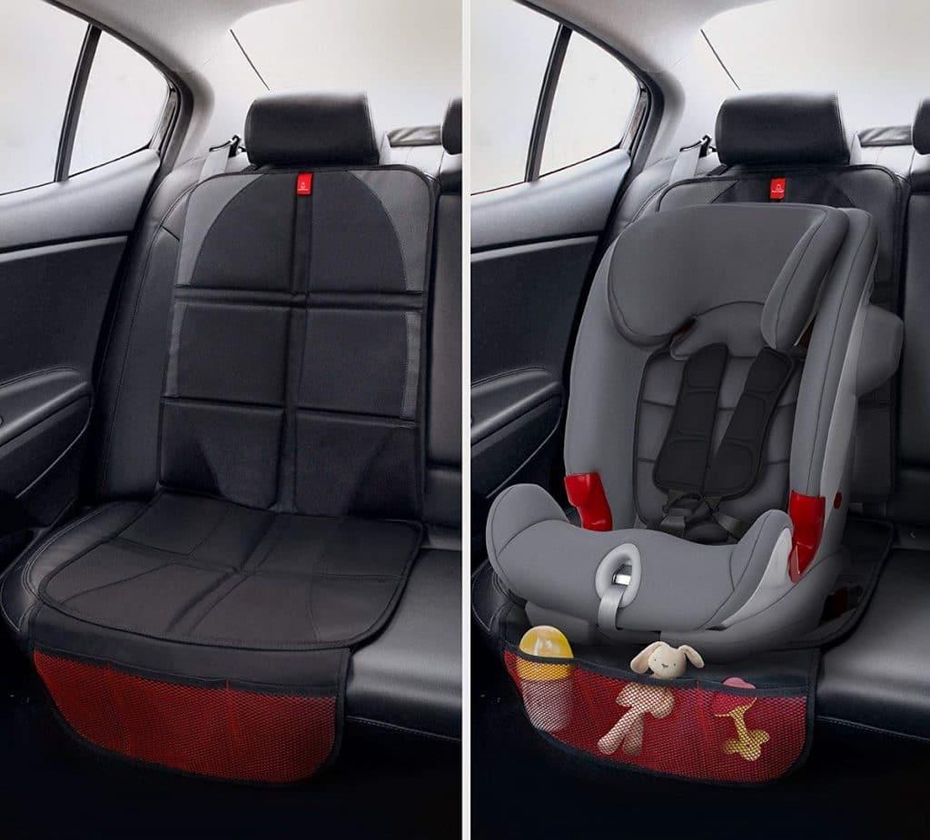 Protector de asientos para evitar daños por la silla de coche